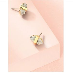 NWT Stella & Dot rebel studs stone and gold